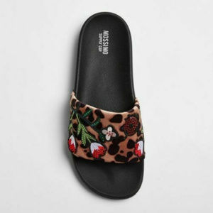 Mossimo Animal Leopard Print Slide Sandals